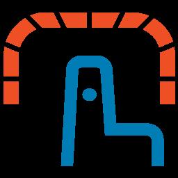 SMA Technologies Self Service blue pointer finger logo